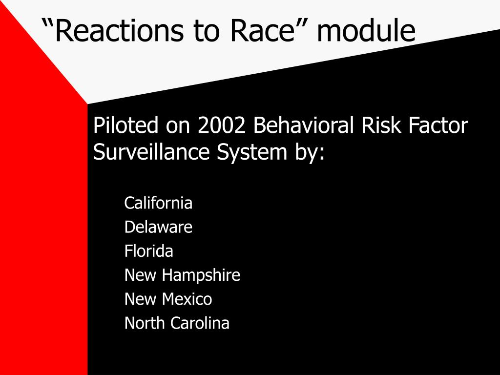 """Reactions to Race"" module"