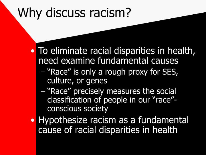 Why discuss racism