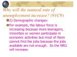 why will the natural rate of unemployment increase 91c913