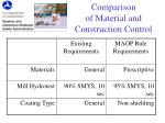 comparison of material and construction control