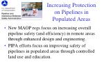 increasing protection on pipelines in populated areas