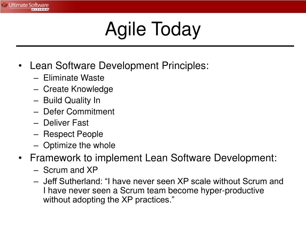 Agile Today