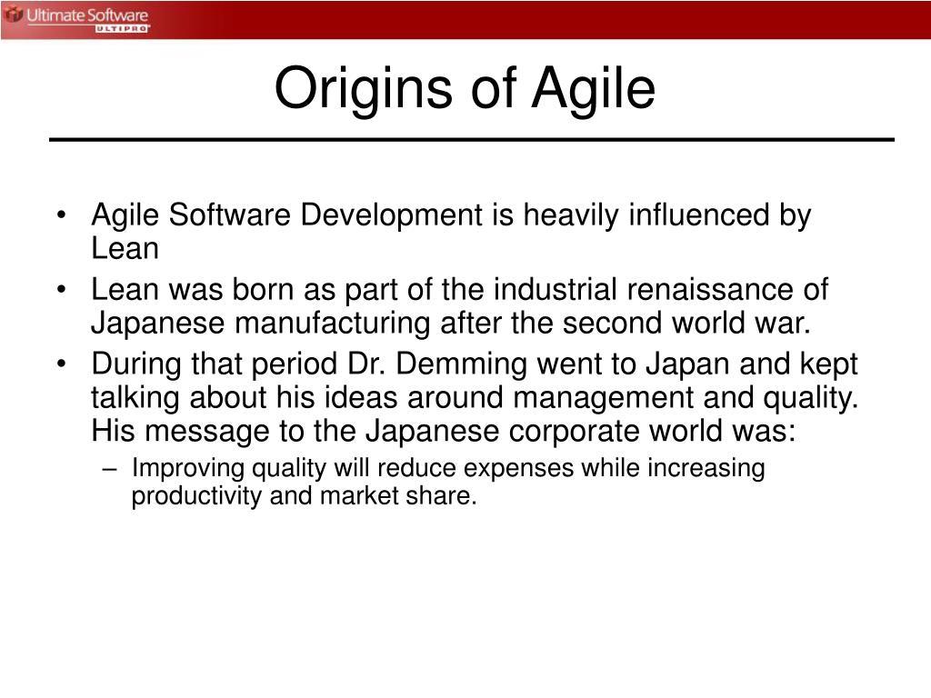 Origins of Agile
