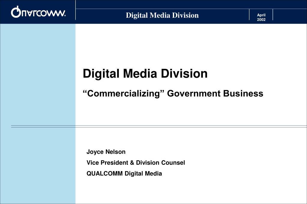 Digital Media Division