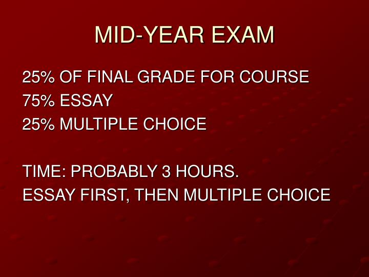 Mid year exam