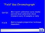 field gas chromatograph29