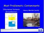 most problematic contaminants