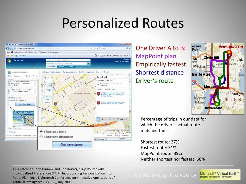 Personalized Routes