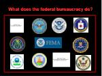 the federal bureaucracy8