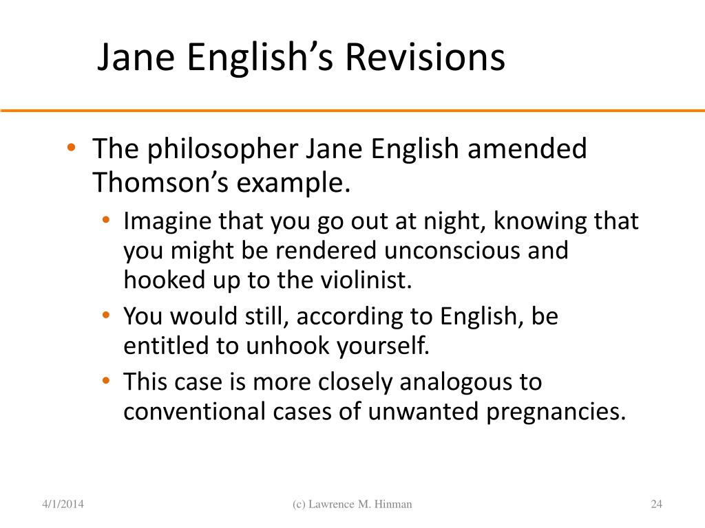 Jane English's Revisions