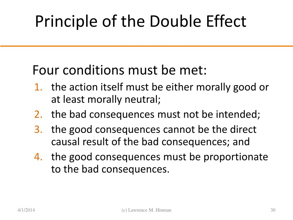 Principle of the Double Effect