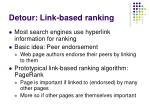 detour link based ranking