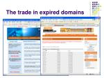 the trade in expired domains