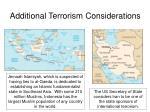 additional terrorism considerations2