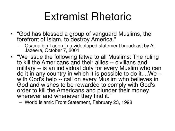 Extremist Rhetoric