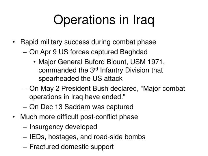 Operations in Iraq