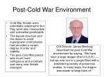post cold war environment
