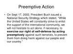 preemptive action