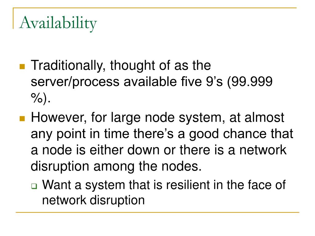 Availability