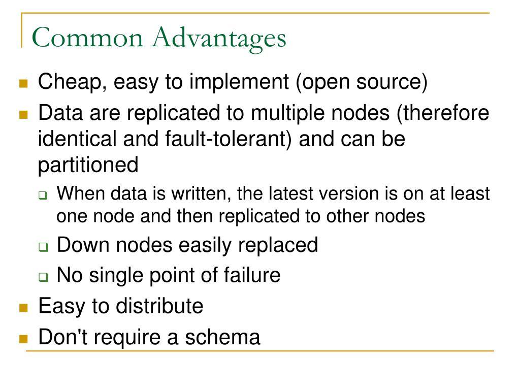 Common Advantages