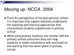 moving up ncca 2004