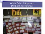 whole school approach print rich environment