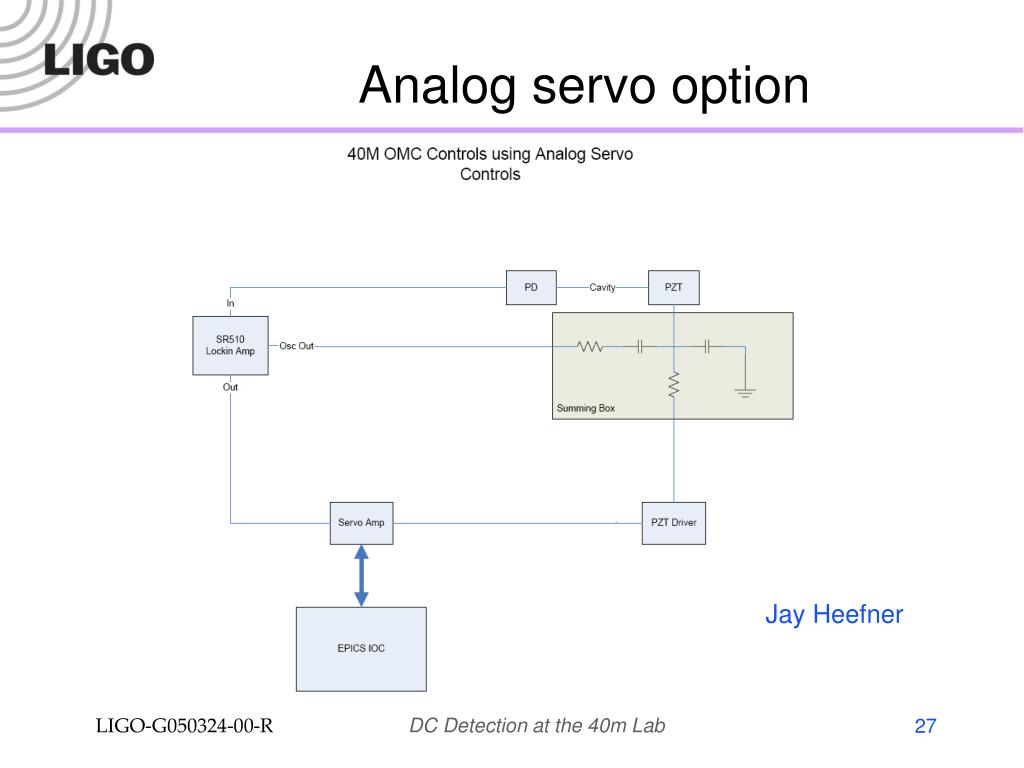 Analog servo option