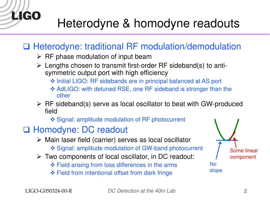 Heterodyne & homodyne readouts