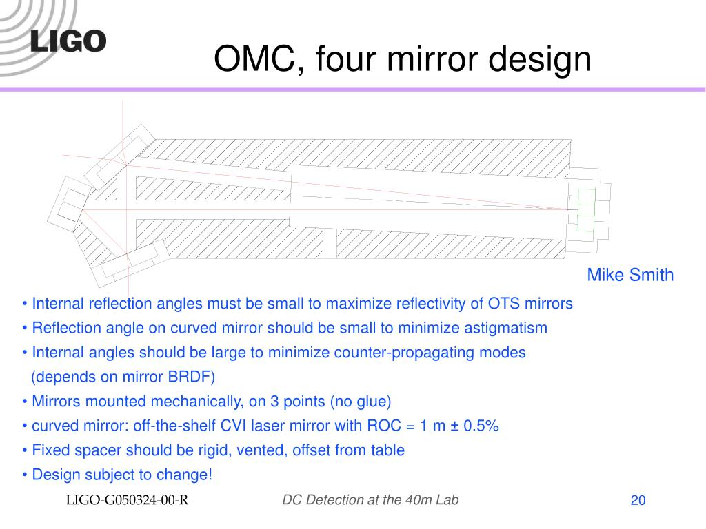 OMC, four mirror design
