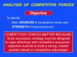 analysis of competitive forces