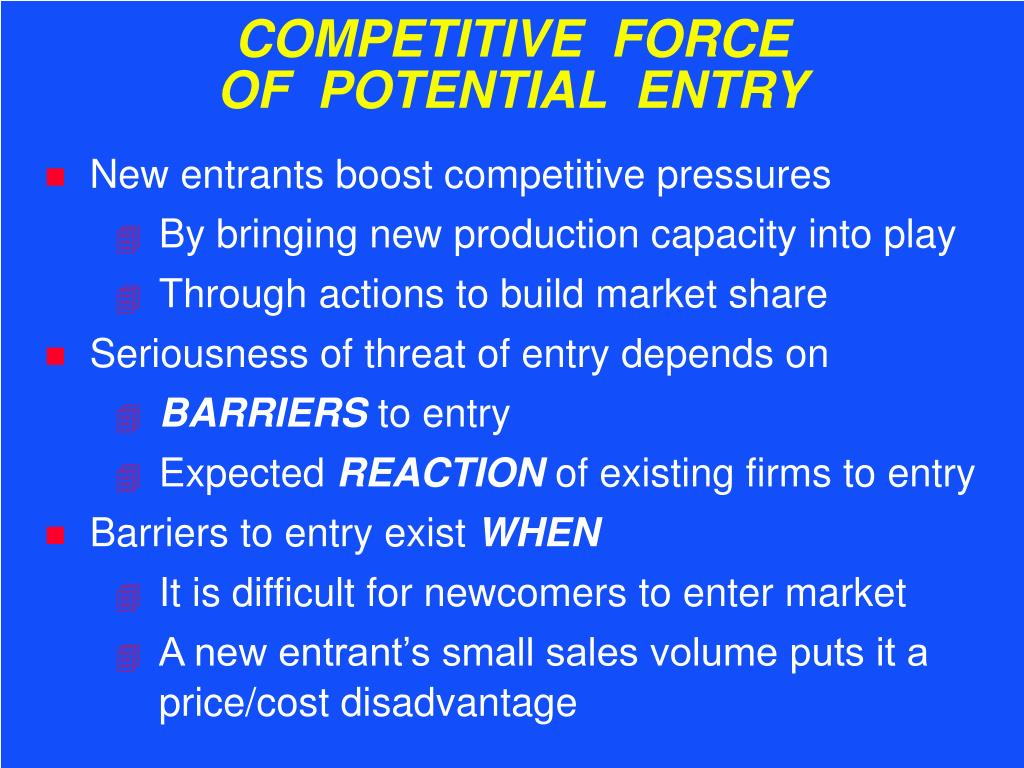 COMPETITIVE  FORCE