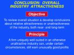 conclusion overall industry attractiveness