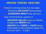 driving forces analysis
