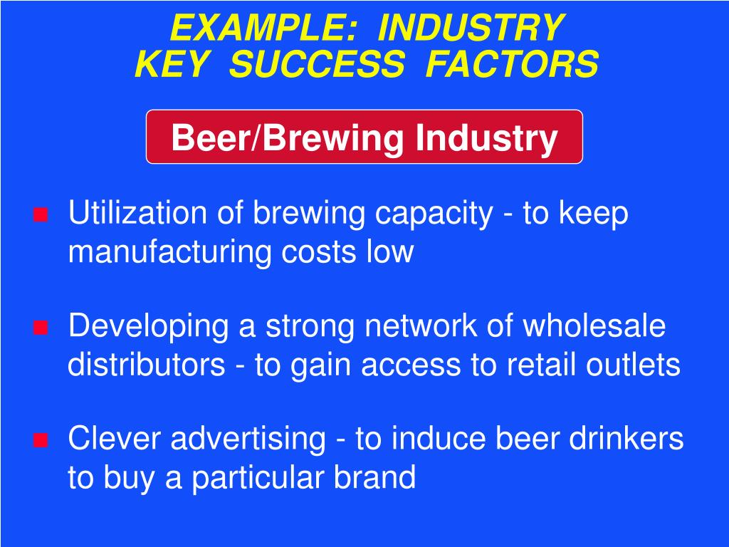 EXAMPLE:  INDUSTRY