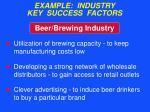 example industry key success factors