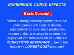 experience curve effects8