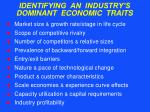 identifying an industry s dominant economic traits