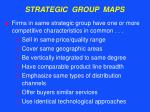 strategic group maps