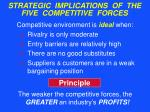 strategic implications of the five competitive forces30
