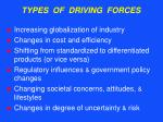 types of driving forces37