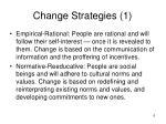 change strategies 1