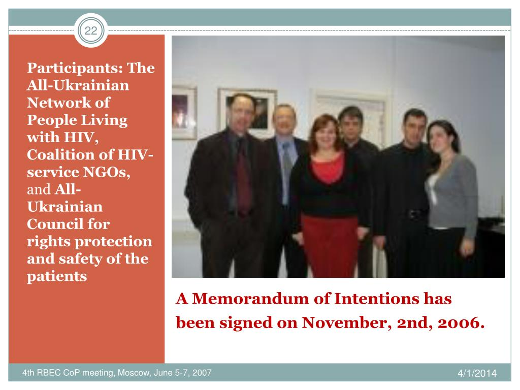 Participants: The All-Ukrainian Network of People Living with HIV, Coalition of HIV-service NGOs,