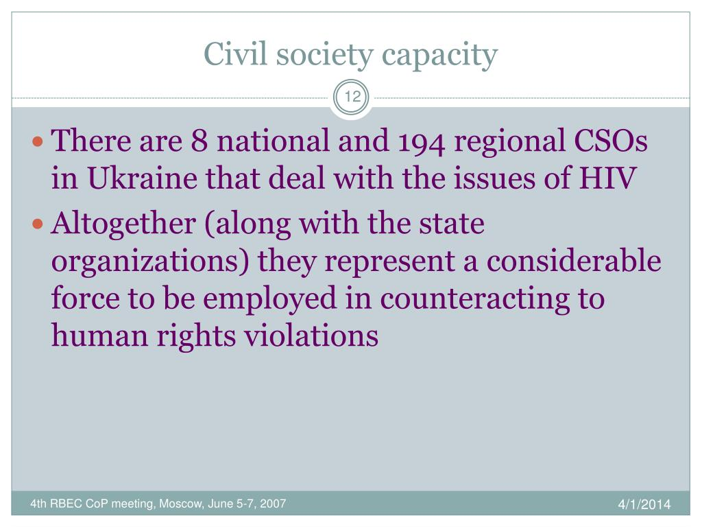 Civil society capacity