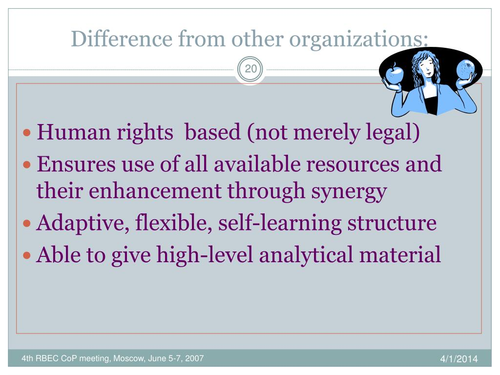 Difference from other organizations
