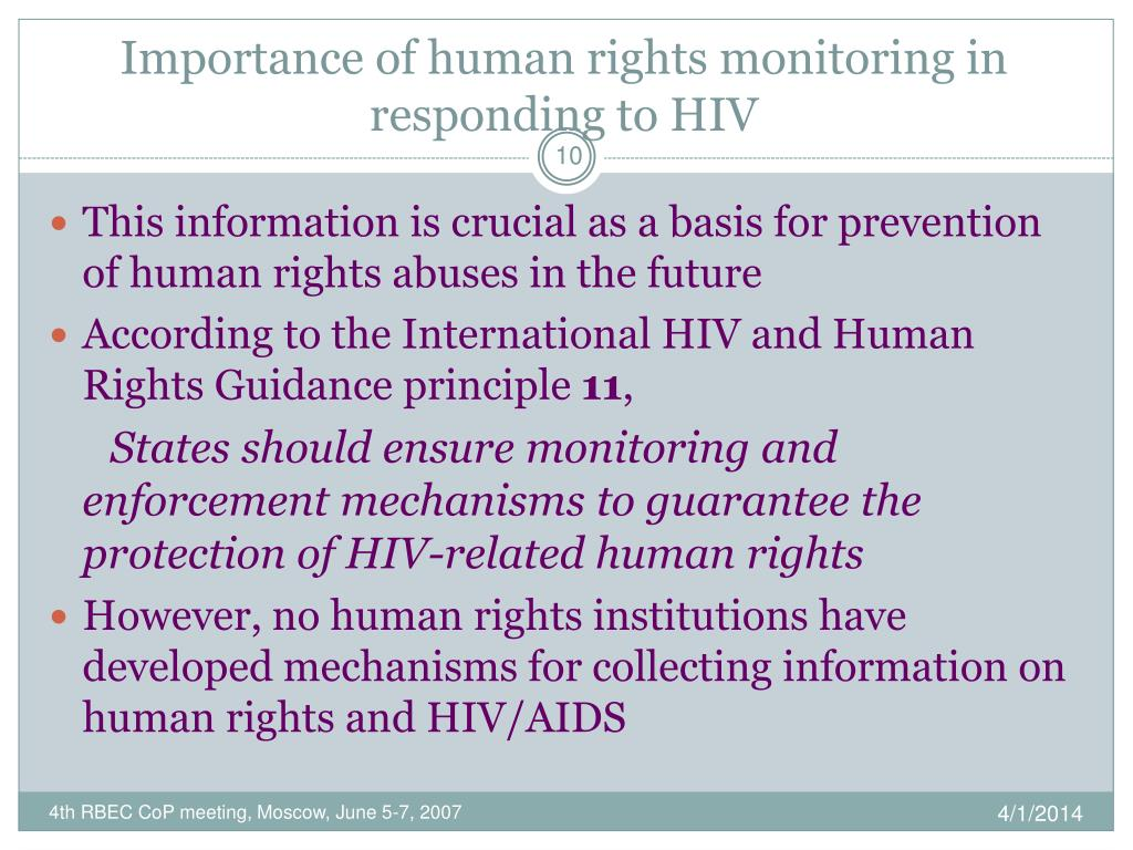 Importance of human rights monitoring in responding to HIV