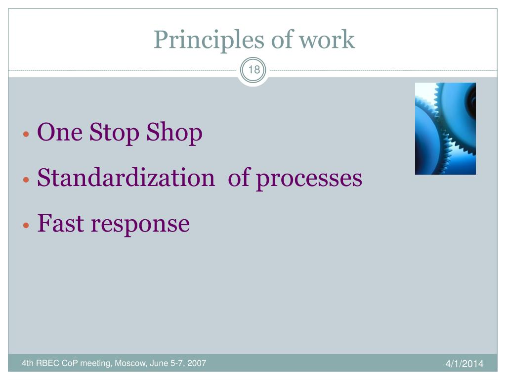 Principles of work