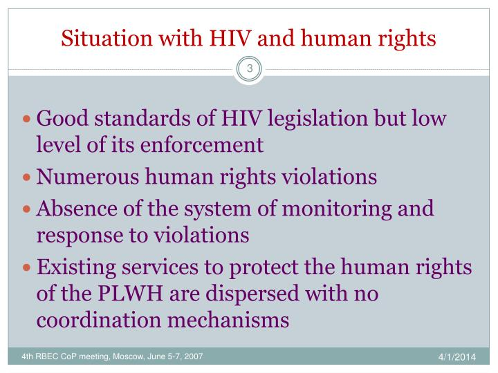 Situation with hiv and human rights