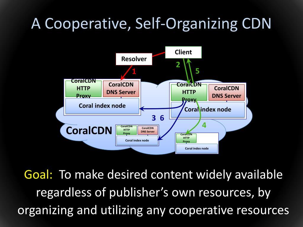 A Cooperative, Self-Organizing CDN