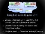 based on peer to peer dht