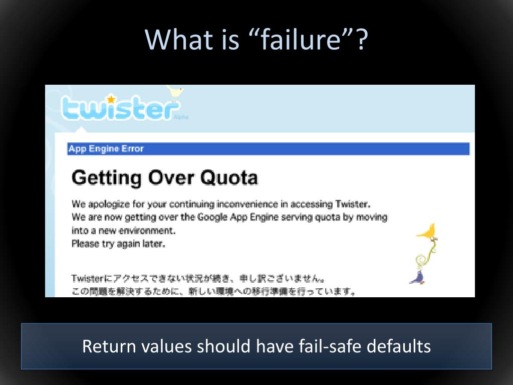 "What is ""failure""?"